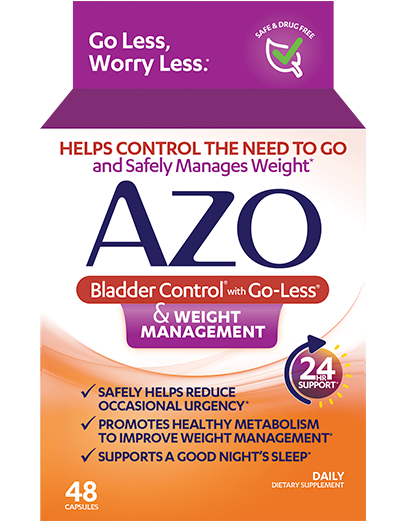 AZO Bladder Control<sup>®</sup> & Weight Management front of Package