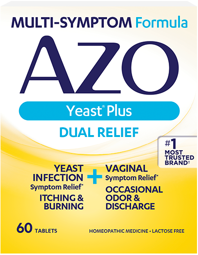AZO Yeast<sup>®</sup> Plus front of Package